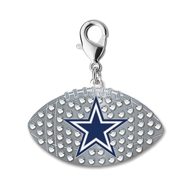 Dallas Cowboys Rhinestone Football Charm