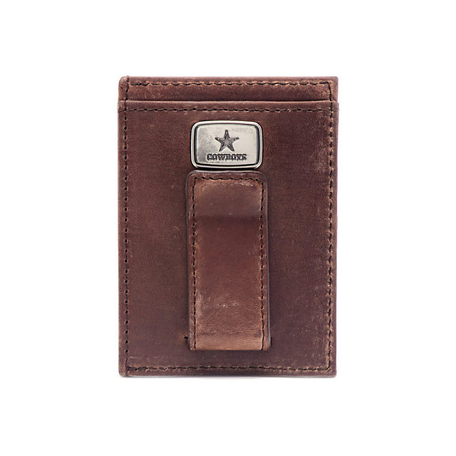Dallas Cowboys Jack Mason Brown Legacy Multicard Front Pocket Wallet
