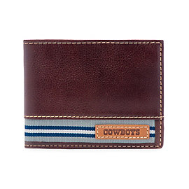 Dallas Cowboys Jack Mason Brown Tailgate Traveler Wallet