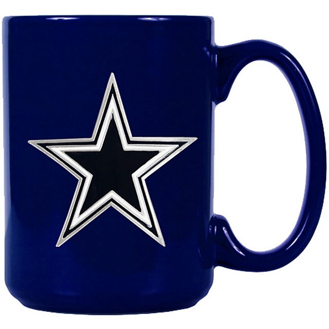 Dallas Cowboys Blue Ceramic Coffee Mug