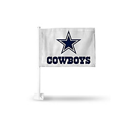 Dallas Cowboys White Logo Car Flag