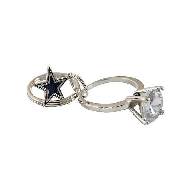 Dallas Cowboys Bling Ring Key Ring
