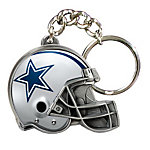 Dallas Cowboys Football Helmet Keychain