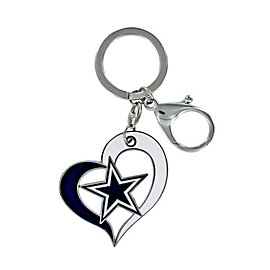 Dallas Cowboys Heart Star Keyring