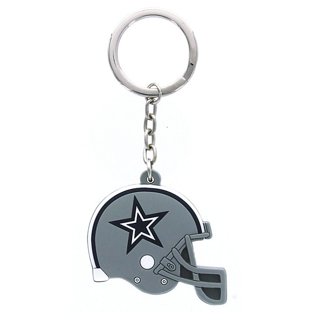 Dallas Cowboys Double-Sided Rubber Helmet Keyring
