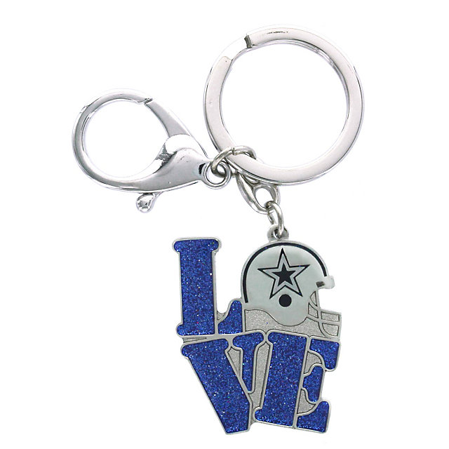 Dallas Cowboys Love Helmet Keyring