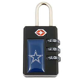 Dallas Cowboys Combination Luggage Lock - TSA Approved