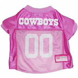 Dallas Cowboys Pink Pet Jersey