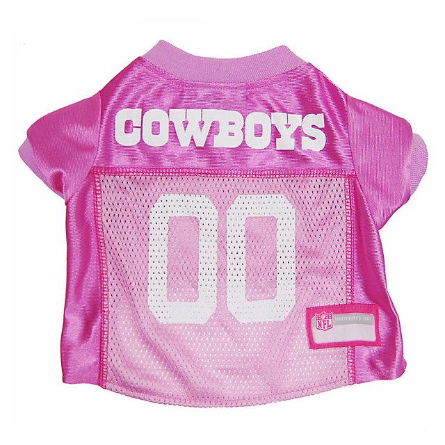 Dallas Cowboys Pink Pet Jersey