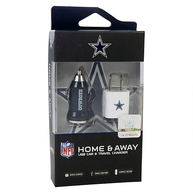 Dallas Cowboys Home and Away USB Charger Kit