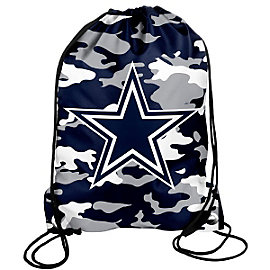 Dallas Cowboys Blue Camo Drawstring Backpack