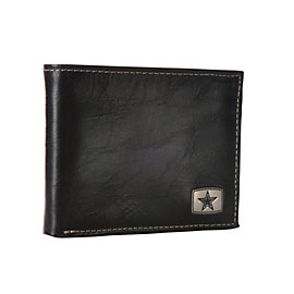 Dallas Cowboys Leather Wallet with Metal Emblem
