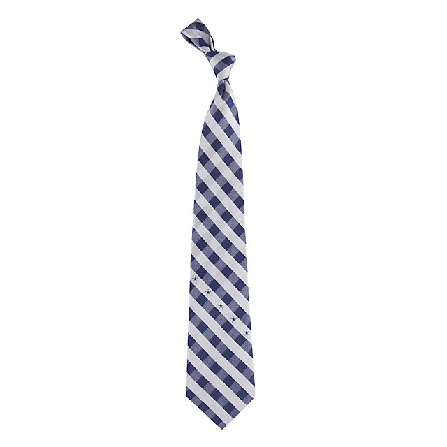 Dallas Cowboys Woven Polyester Checkered Tie