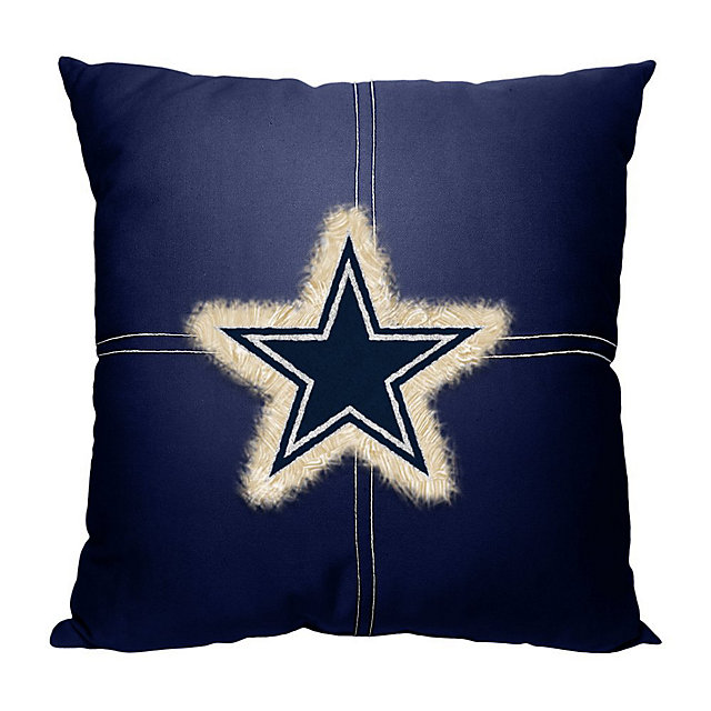 Dallas Cowboys 18x18 Center Patch Letterman Pillow
