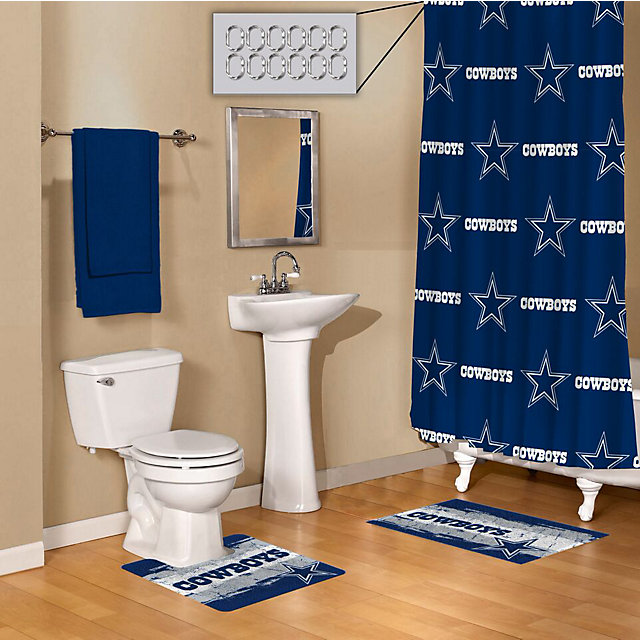 Dallas cowboys 15 piece bath set bath home office for Bathroom decor catalogs