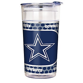 Dallas Cowboys 22 oz Acrylic Party Cup with Metallic Wrap