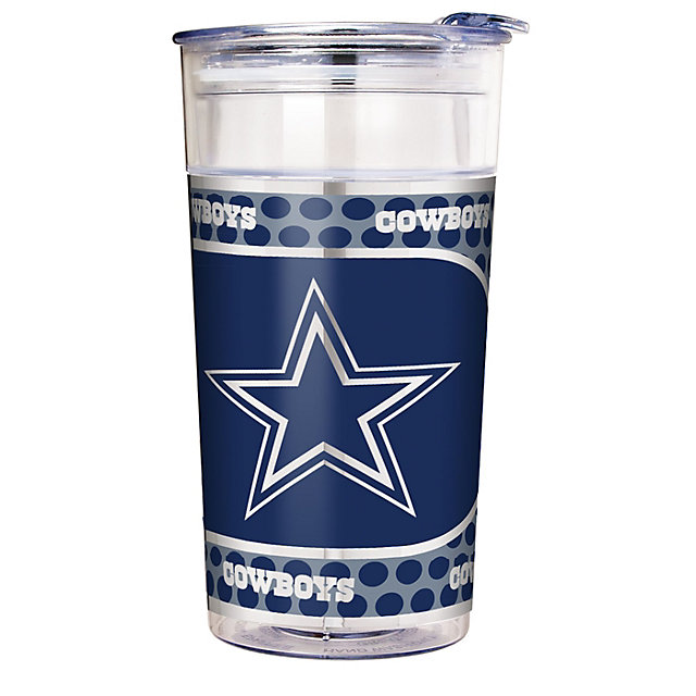 Dallas Cowboys 22 oz Acrylic Pary Cup with Metallic Wrap