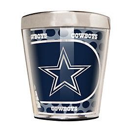 Dallas Cowboys 2 oz Metallic Round Stainless Steel Shot Glass