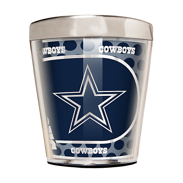 Dallas Cowboys 2 oz Metallic Round Stainless Steel Shot Glass