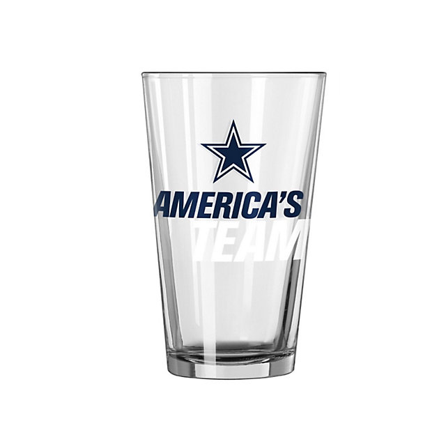 Dallas Cowboys America's Team Slogan Pint Glass