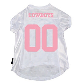 Dallas Cowboys Pink On White Pet Jersey