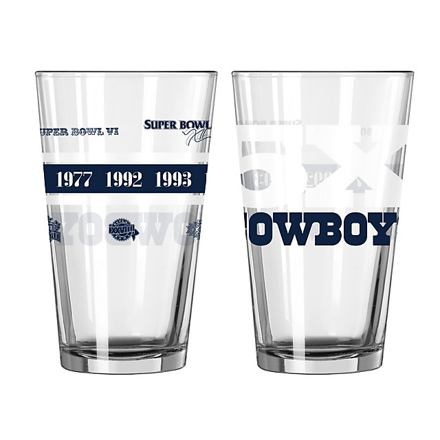 Dallas Cowboys 5-Time Champions Pint Glass