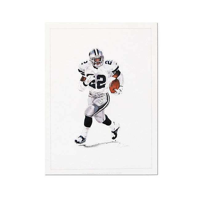 Dallas Cowboys Emmitt Smith Lithograph