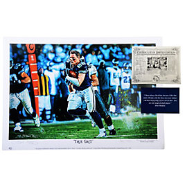 Dallas Cowboys Jason Witten True Grit Print Regular Edition