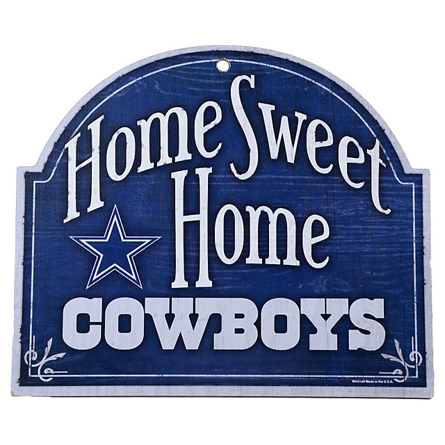 Dallas Cowboys Home Sweet Home Wood Sign Home Decor