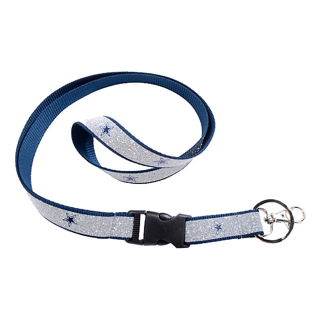 Dallas Cowboys Blue Sparkle Lanyard