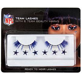 Dallas Cowboys Eyelash and Beauty Mark Set