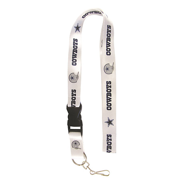Dallas Cowboys White Retro Lanyard