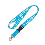 Dallas Cowboys Striped Neon Blue Lanyard