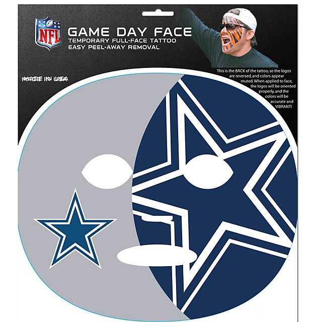 Dallas Cowboys Full Face Temporary Tattoo