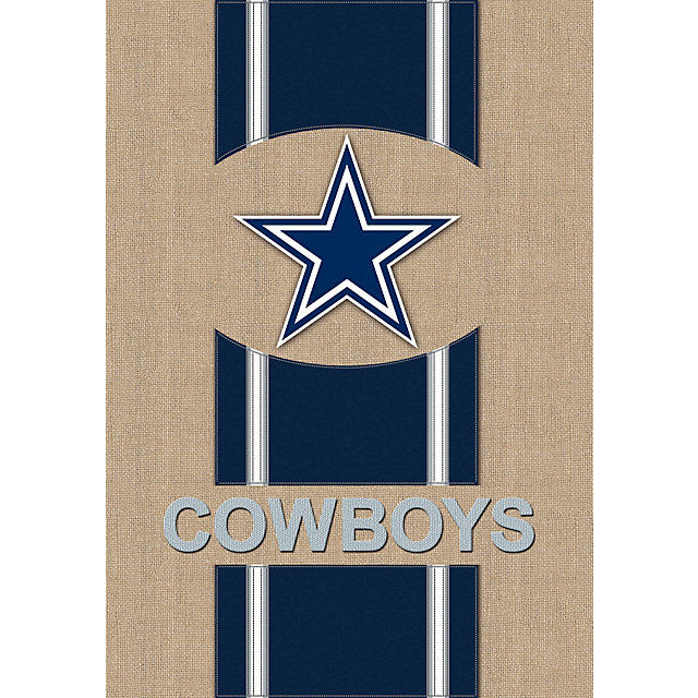 Dallas Cowboys Burlap Garden Flag