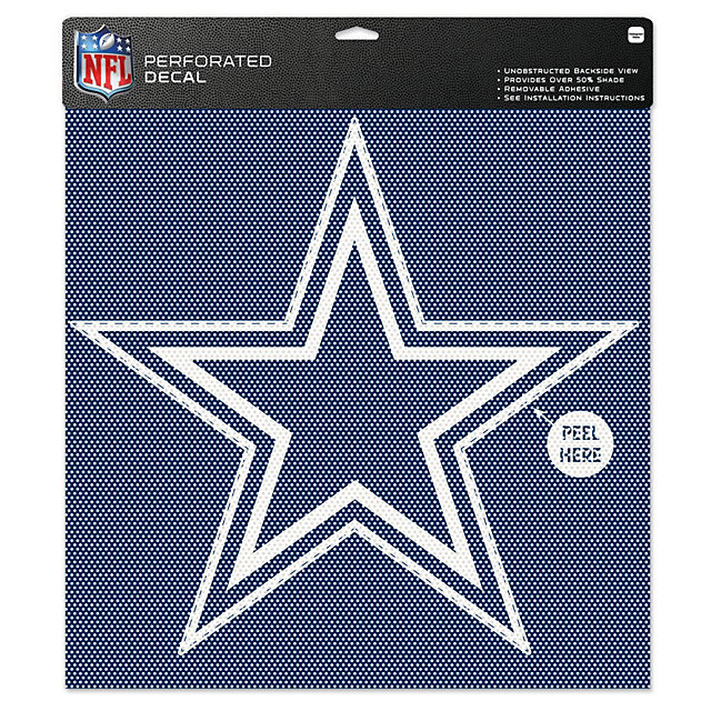 Dallas Cowboys 17-Inch Perforated Star Decal