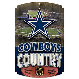Dallas Cowboys Country Wood Sign