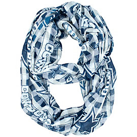 Dallas Cowboys Plaid Sheer Infinity Scarf