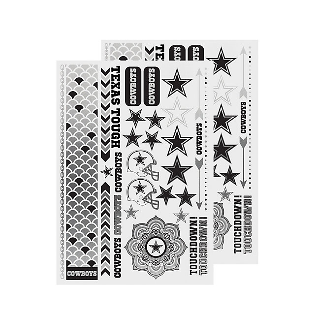 Dallas Cowboys Metallic Tattoo Sheet
