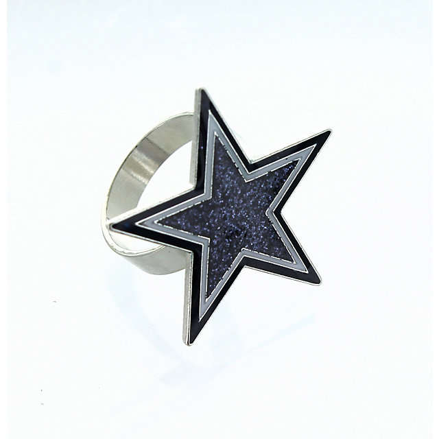 Dallas Cowboys Navy Star Glitter Ring