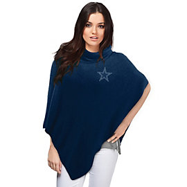 Dallas Cowboys Crystal Knit Poncho