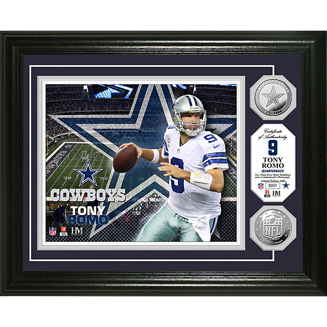 Dallas Cowboys 13 x 16 Tony Romo Silver Coin Photo Mint