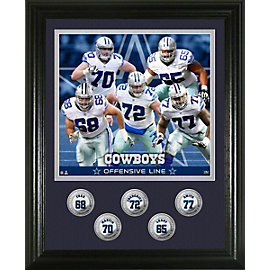 Dallas Cowboys 5 Offensive Line Coin Photo Mint