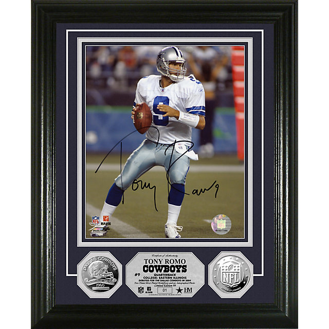 Dallas Cowboys Tony Romo Silver Coin Photo Mint