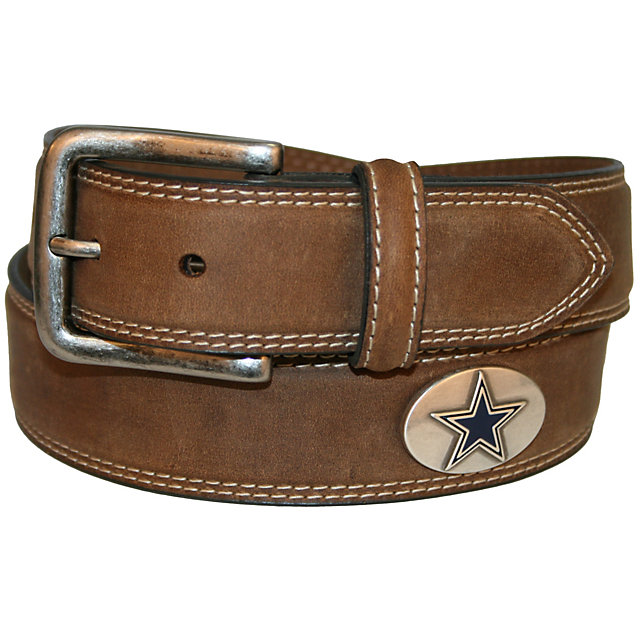 Dallas Cowboys Men's Crazy Horse Leather Concho Belt