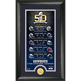 Dallas Cowboys Super Bowl 50 Photomint Frame