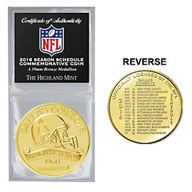 Dallas Cowboys 2016 Bronze Schedule Coin