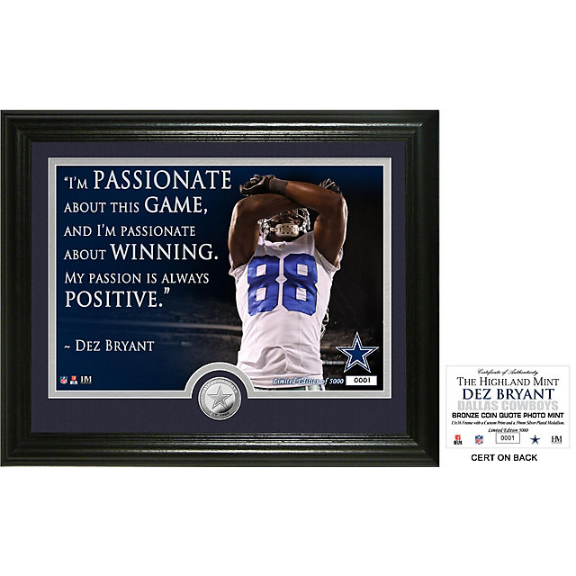 Dallas Cowboys Dez Bryant Quote Photo Mint
