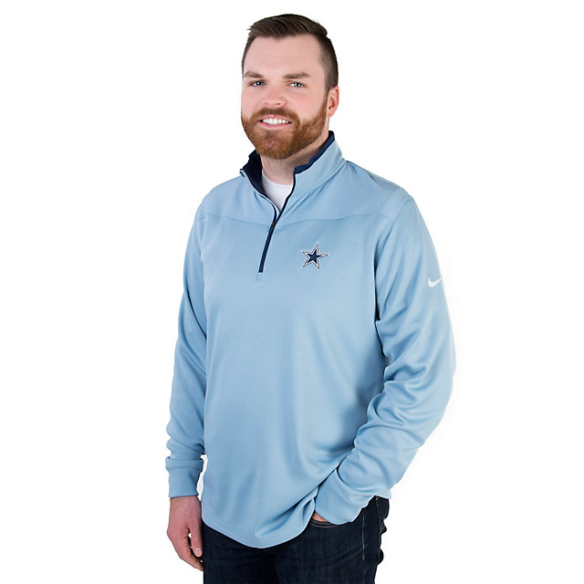 Dallas Cowboys Nike Golf Dri-Fit Half Zip Long Sleeve Top