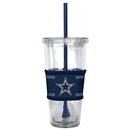Dallas Cowboys Tonal Sleeved Straw Tumbler